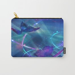 Butterflies and Light Swirls Abstract Carry-All Pouch