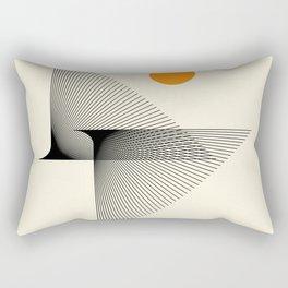 Abstraction_NEW_BIRD_FLY_LINE_POP_ART_033A Rectangular Pillow