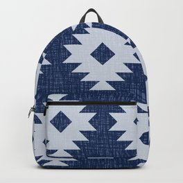 Southwestern Pattern 537 Indigo Blue Backpack