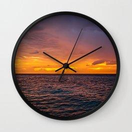 Maldivian Sunset Wall Clock