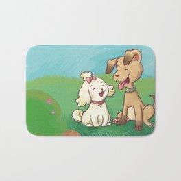 Spavinho e bonequinha  (Spavinho and Little Doll) Bath Mat