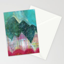 Mountain Winter Solstice Stationery Cards