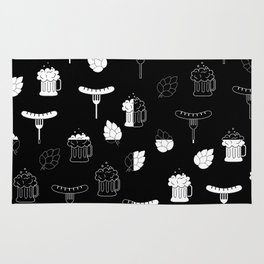 beer sausages pattern Rug