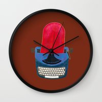 typewriter Wall Clocks featuring Typewriter by gunberk