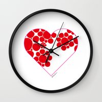 dot Wall Clocks featuring Dot by ♥ Charlie