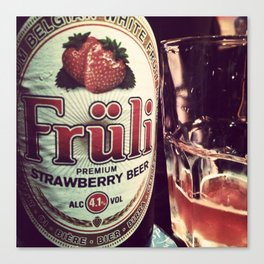 Strawberry Beer Canvas Print