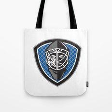Ice Hockey Goalie Helmet Crest Retro Tote Bag