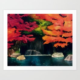 Peaceful Cascade Art Print