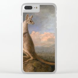 The Kongouro Oil Painting by Australian Artist George Stubbs Clear iPhone Case