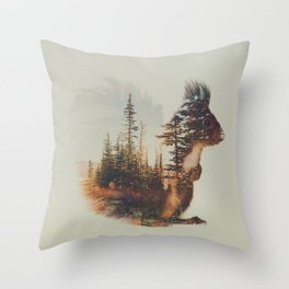 Norwegian Woods: The Squirrel Throw Pillow