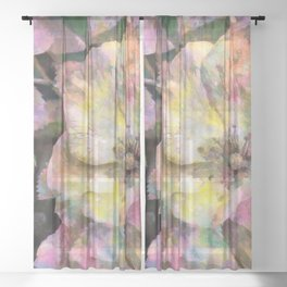 Wild Rose Sheer Curtain