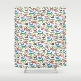 Endangered Reptiles Around the World Shower Curtain