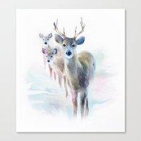 holiday Canvas Prints featuring holiday by tatiana-teni