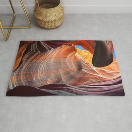 Geology Alive - Time Passage of Upper Antelope Canyon Rug