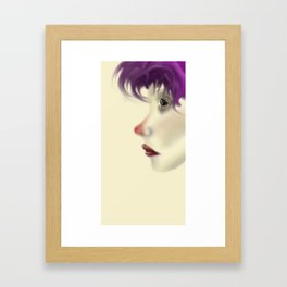 Colored Contemplation Framed Art Print