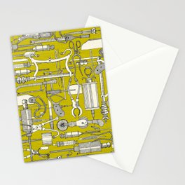 fiendish incisions chartreuse Stationery Cards