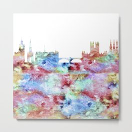 Edinburgh City Skyline Metal Print