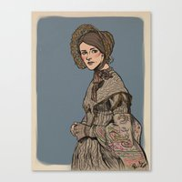 jane eyre Canvas Prints featuring Molly Hooper as Jane Eyre by Jess P.