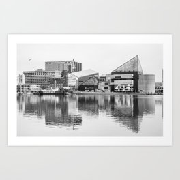 Reflections on the Harbor Art Print