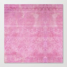 Romantic pink painting Canvas Print