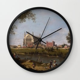 Eton College Chapel by Canaletto Wall Clock