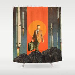 The Departure Shower Curtain