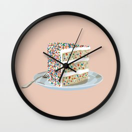 Sprinkle Party Cake Wall Clock