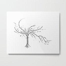 Sensual tree white Metal Print