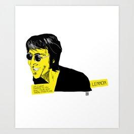 musicstrokes_lennon Art Print