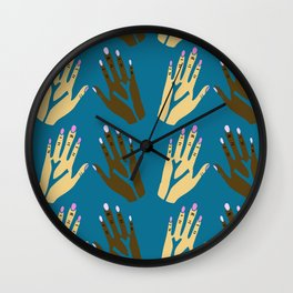 All blood is the same - blue Wall Clock