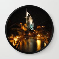 arab Wall Clocks featuring Burj Al Arab Hotel - Dubai by Graham Taylor Photography Services