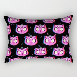 three-eyed pink cat Rectangular Pillow