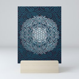 Flower Of Life (Silver Lining) Mini Art Print