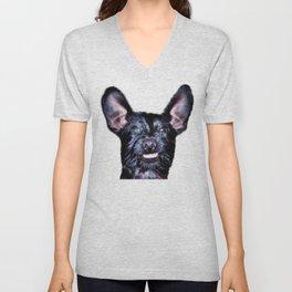Funny Dog , Good Humor Dog Unisex V-Neck