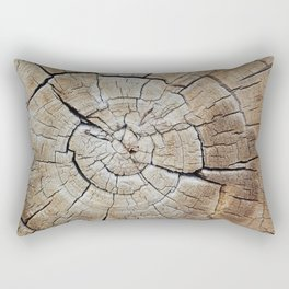 Tree rings of time Rectangular Pillow