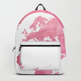 Pink world map Backpack