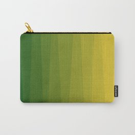 Shades of Grass - Line Gradient Pattern between Lime Green and Bright Yellow Carry-All Pouch
