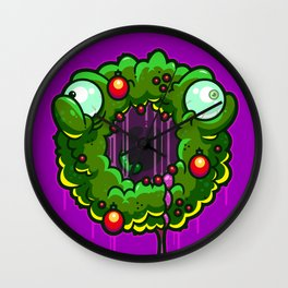 Zombie Wreath Wall Clock