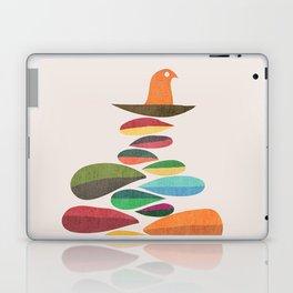 Bird nesting on top of pebbles hill Laptop & iPad Skin