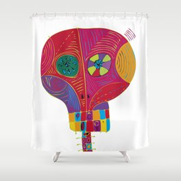 dia-di-los-muertos-00001.jpg Shower Curtain
