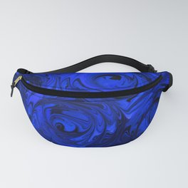 China Blue Rose Abstract Fanny Pack