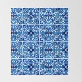 Sevilla - Spanish Tile Throw Blanket