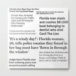 Florida People Metal Print
