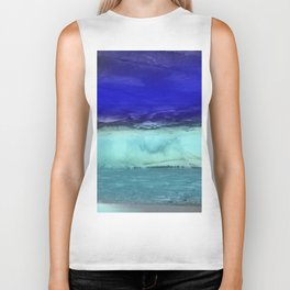 Midnight Waves Seascape Biker Tank