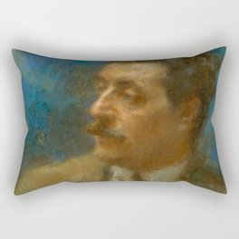 Giacomo Puccini (1858 – 1924) by Arturo Rietti in 1906 Rectangular Pillow