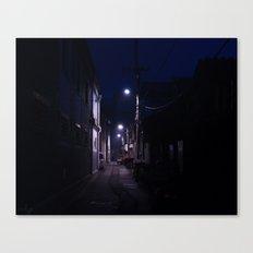 Blue Alley Canvas Print