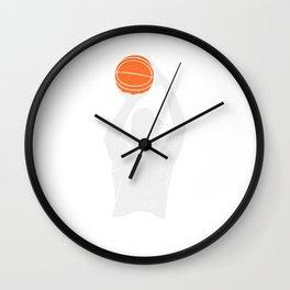 Basketball Moment 3 Points Shot Silhouette Shoot Basketball Wall Clock