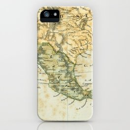 North America Vintage Encyclopedia Map iPhone Case