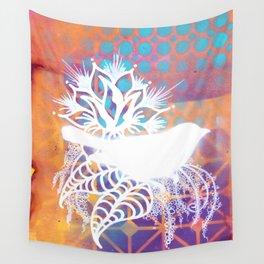 Little Orange Bird Wall Tapestry