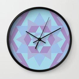 Geometric Mandala in Blue & Purple Wall Clock